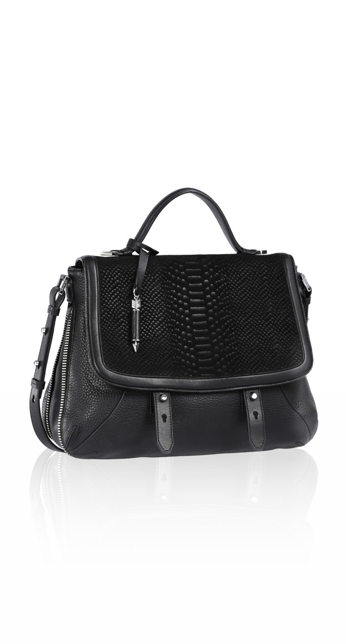 Large Black Messenger Bag | Mackage Handbags