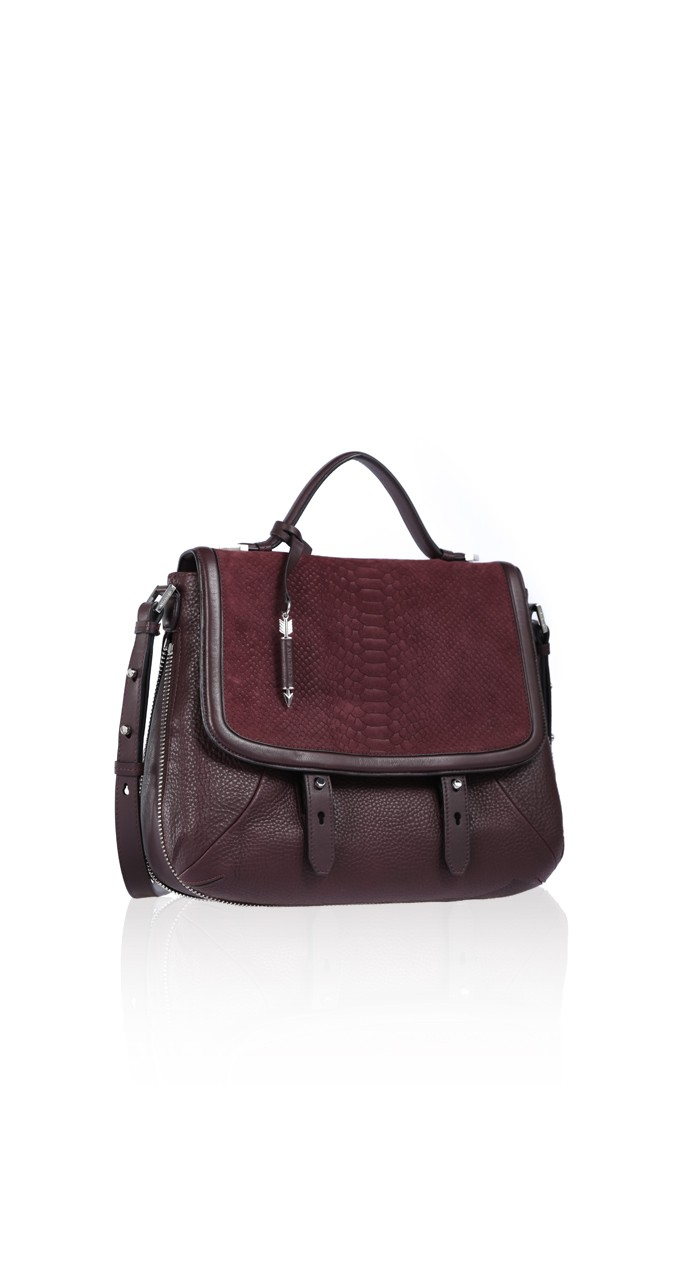 Large Merlot Mesenger Bag | Mackage Handbags