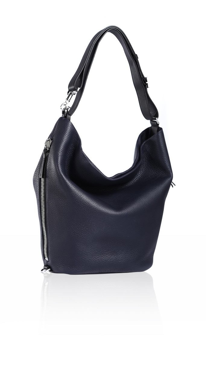 Ink Leather Single Strap Convertible Handbag | Mackage Handbags