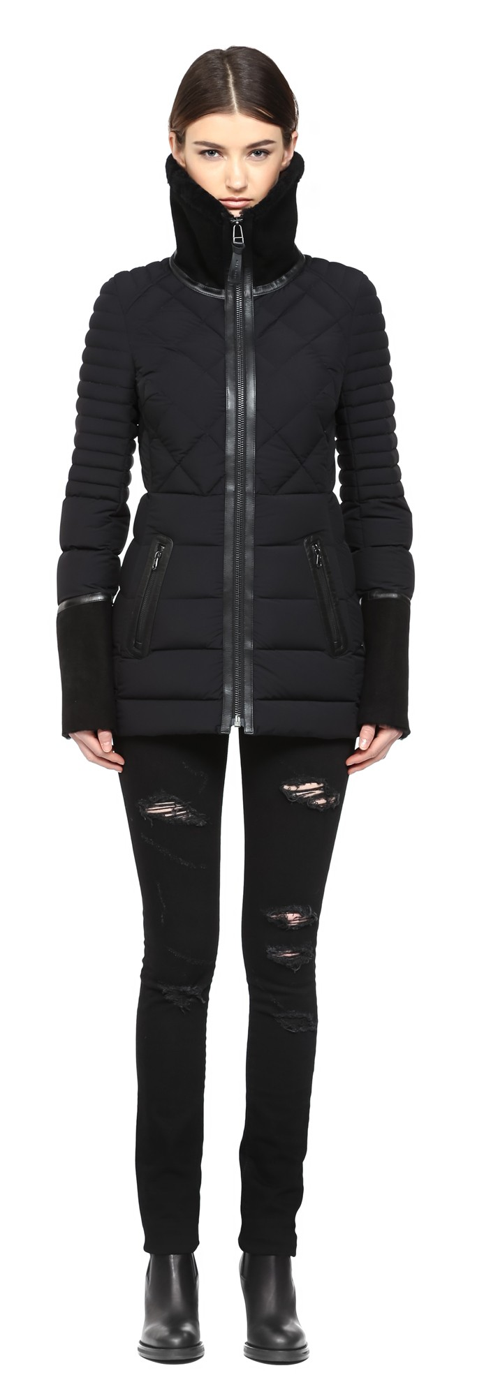 Black Lux Light Weight Coat Mackage Women