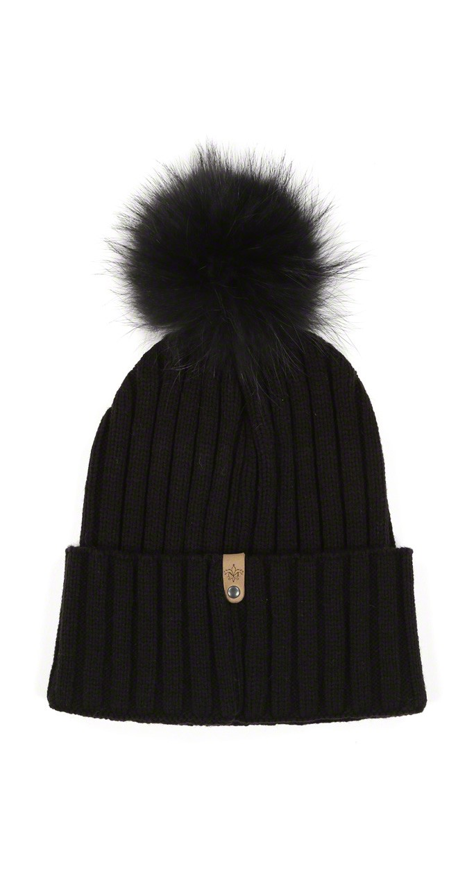 Mac F5 Black Tuque With Pom Pom Outlet