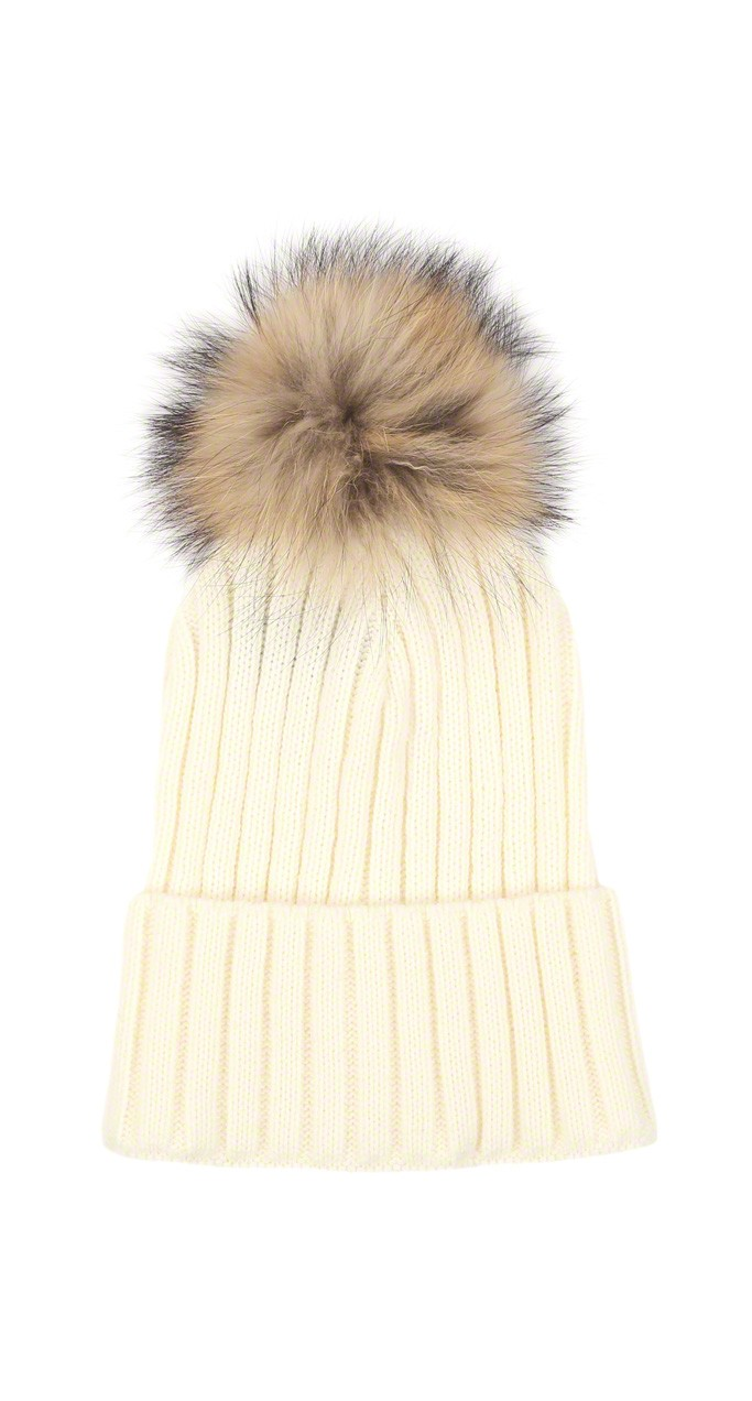 Off White Tuque With Pom Pom Outlet