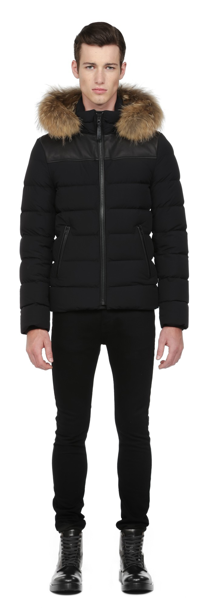 Black Lux Light Weight Down Coat Mackage Men
