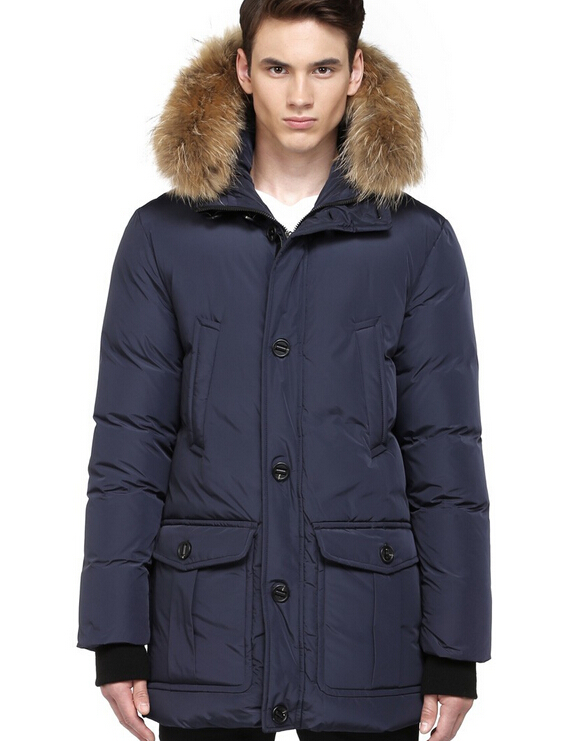 Bryan Down Parka With Fur Hood Trim Mackage Men