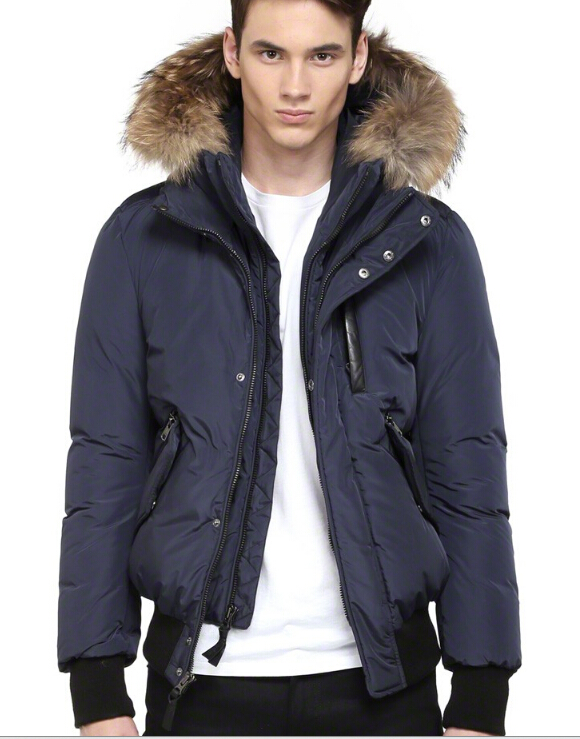 Harvey Down Bomber Jacket With Fur Hood Mackage Men